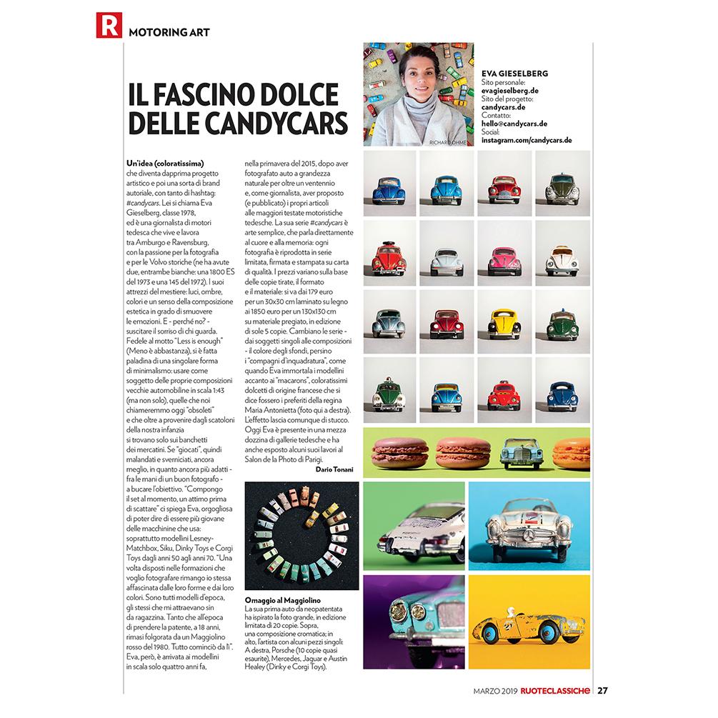 Eva Gieselberg Magazin ruoteclassiche candycars
